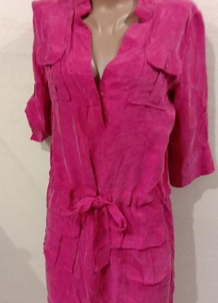 Дизайнерское шелковое платье diane von furstenberg