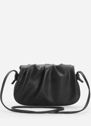 Клатч мини сумочка  багет черный облако