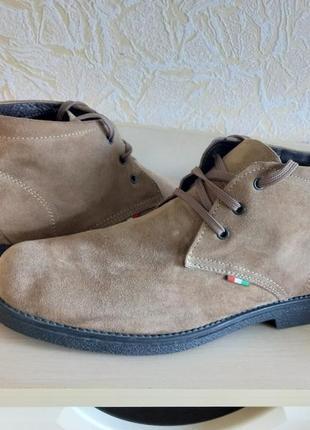 Замшевые демисезонные ботинки italy