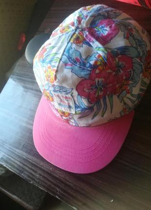Фулкеп, бейсболка, кепка с цветочным принтом