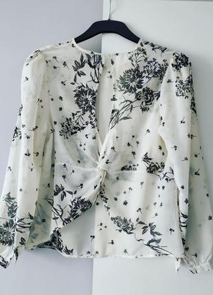 Белая шифоновая блуза atmosphere