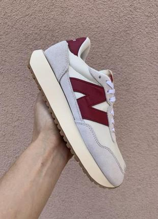 Кроссовки женские new balance 237 red/grey