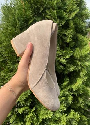 Туфли женские натуральная замша кожа италия