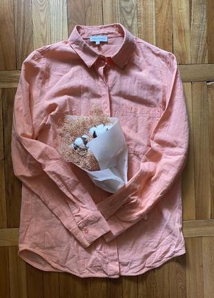 Коралловая рубашка