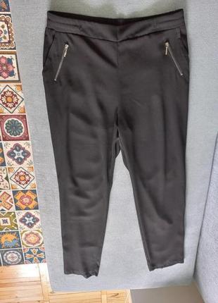 Брюки джогеры на резинке с карманами