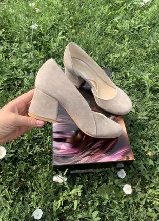 Туфли женские базовые натуральная замша италия