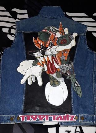 Крутая модная джинсовая жилетка унисекс