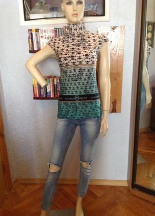 Мягонькая, эластичная блуза бренда alexander mcqueen, р. 40-442 фото