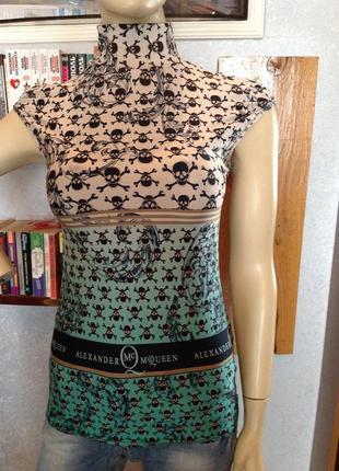 Мягонькая, эластичная блуза бренда alexander mcqueen, р. 40-441 фото