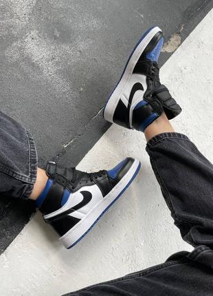 "Кроссовки nike air jordan retro 1 high ""royal toe blue"""