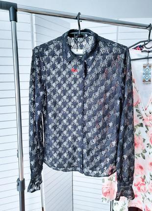 Новая блуза кружево ажурная блуза
