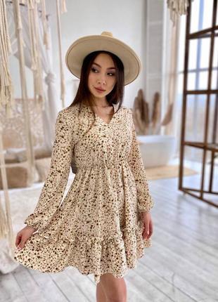 Повседневное платье цветочный принт