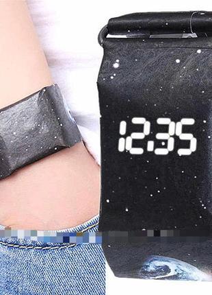 Бумажные часы paper watch космические
