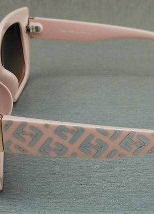 Fendi очки женские солнцезащитные коричневый градиент в нежно розовой оправе4 фото