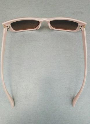 Fendi очки женские солнцезащитные коричневый градиент в нежно розовой оправе5 фото