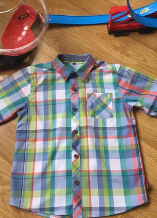 Стильная рубашка шведка в клетку ted baker рост 122см