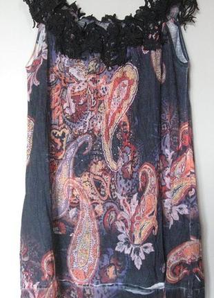 Платье короткое с плетеным кружевом по верху