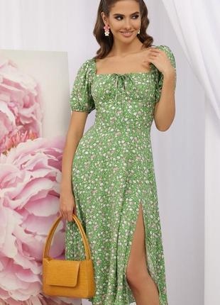 Модное хлопковое зелёное  платье 👗 & качество 💥
