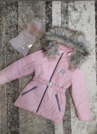 Зимняя куртка бемби на девочку