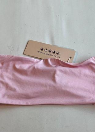 Нежно розовый топ бандо