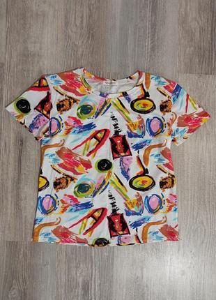 Стильная футболка унисекс с принтом