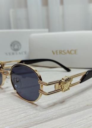 Стильные очки солнцезащитные женские, мужские в металлической оправе4 фото