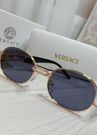 Стильные очки солнцезащитные женские, мужские в металлической оправе
