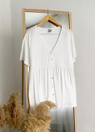 Натуральная блуза распашонка на пуговичках asos