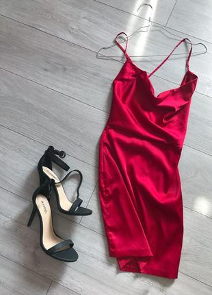 Красное платье мини ohpolly