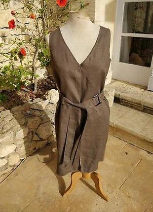 Красивый сарафан платье лен