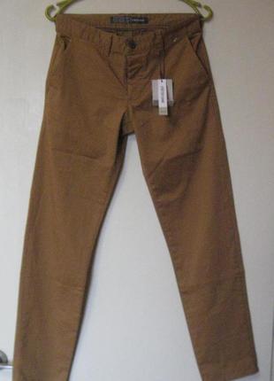 Стильные джинсы рыжие коричневые