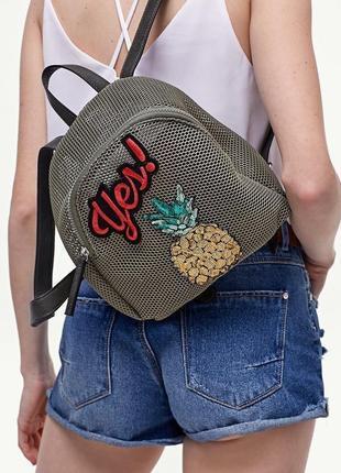 Новый текстильный рюкзак stradivarius оригинал