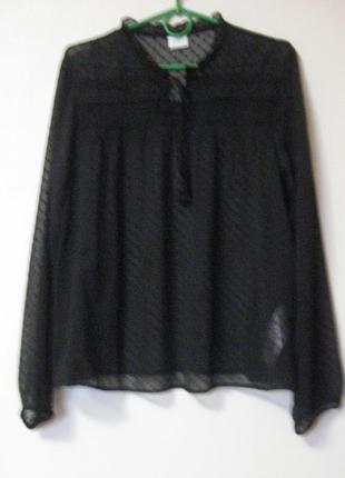 Блуза черная в точечку