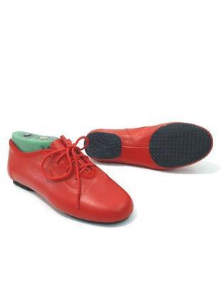 Джазовки кожаные красные.