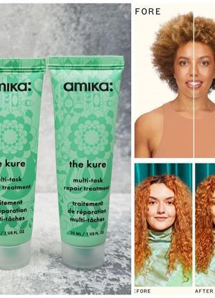 Cредство для восстановления поврежденных волос amika the kure multi-task repair treatment
