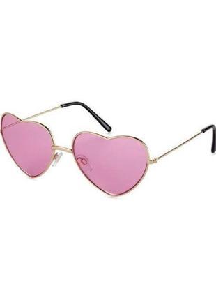 Стильные розовые очки в форме сердца