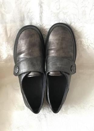Кожаные мягкие туфли для проблемных стоп кожа