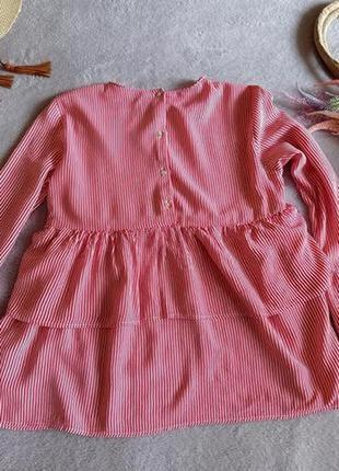 Блуза в полоску с воланами зара zara2 фото