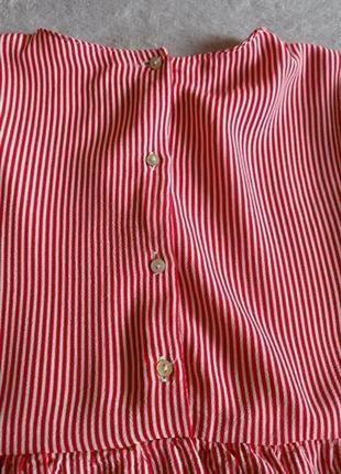 Блуза в полоску с воланами зара zara6 фото
