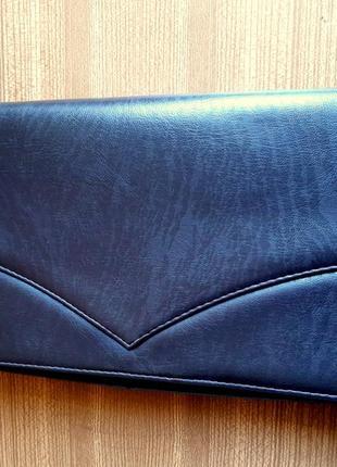 Женский клатч, из перфорированной кожи. цвет  темный шоколад . италия. винтаж.
