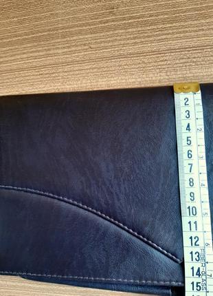 Женский клатч, из перфорированной кожи. цвет  темный шоколад . италия. винтаж.5 фото