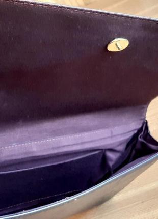 Женский клатч, из перфорированной кожи. цвет  темный шоколад . италия. винтаж.6 фото