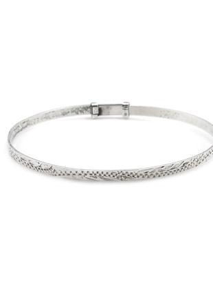 Винтажный  браслет на руку  из серебра с узором