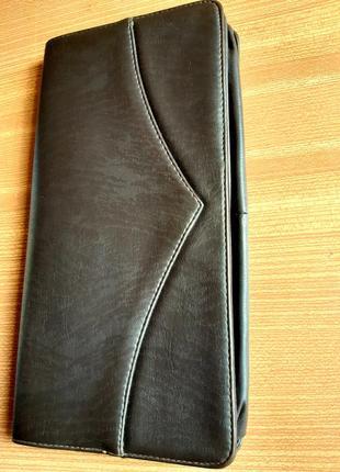 Женский клатч, из перфорированной кожи. цвет  темный шоколад . италия. винтаж.9 фото