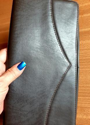 Женский клатч, из перфорированной кожи. цвет  темный шоколад . италия. винтаж.2 фото