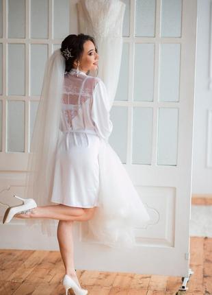 Халатик белый (идеальный для утра невесты)