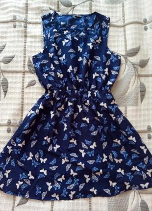 Платье в бабочки легкое atmosphere л, шифоновое