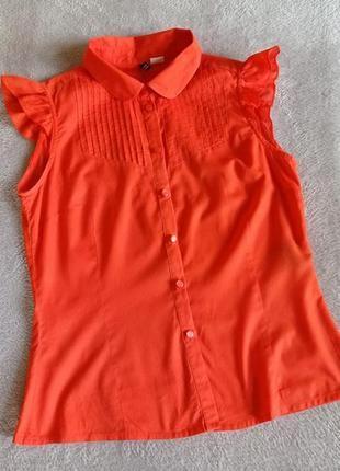 Яркая натуральная блуза