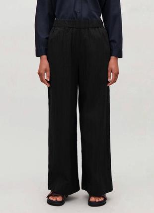 Легкые брюки из шелка хлопка хлопковые шелковые прямые палаццо