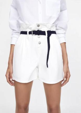 Zara шорты бермуды с высокой посадкой
